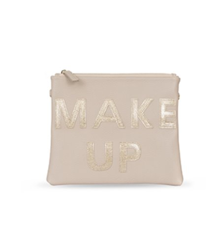 [CLUTCH]gold make up cosmetic bag
