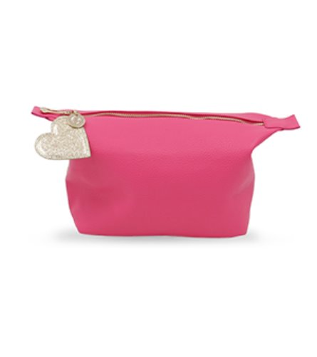 [CLUTCH]pink with heart charm bag