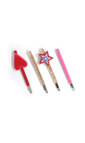 hair slide set - colorful heart & star