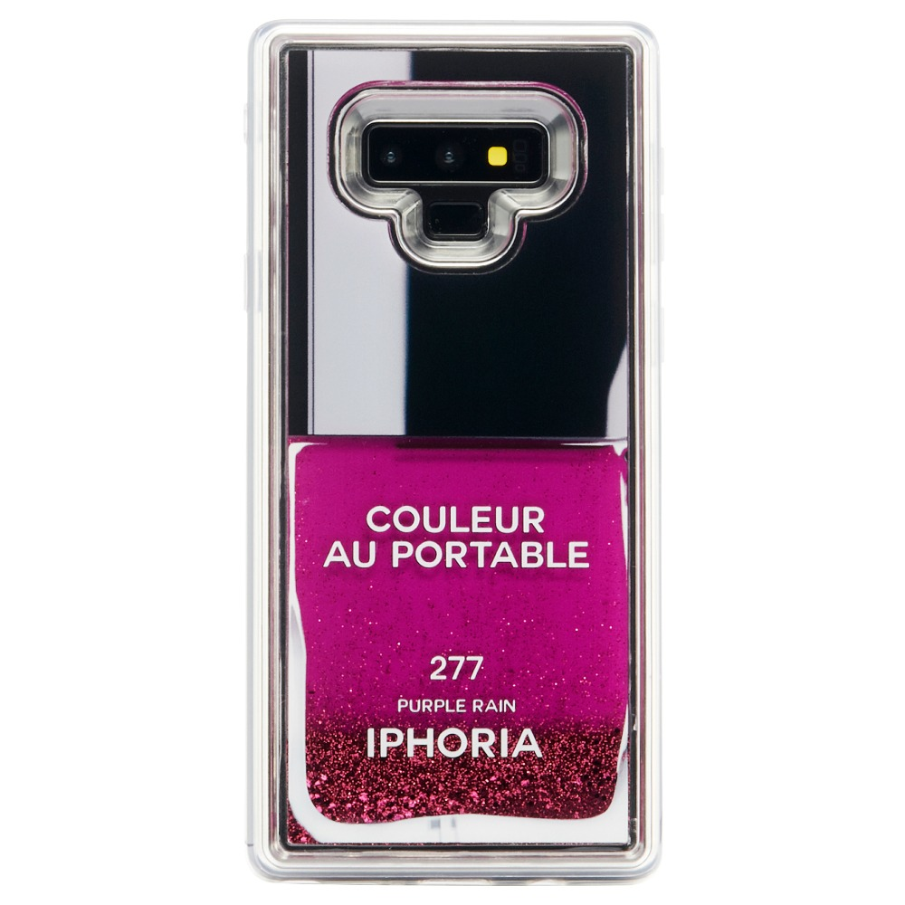LIQUID NAILPOLISH PURPLE Galaxy NOTE 9 CASE