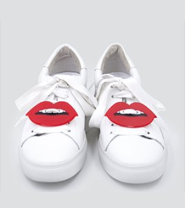 RED LIPS SNEAKER PATCH