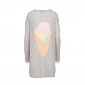 CARDIGAN ICE CREAM CASHMERE 100%