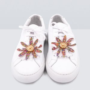 FLOWERS GLITTER MULTICOLOR PEARL SNEAKER PATCH