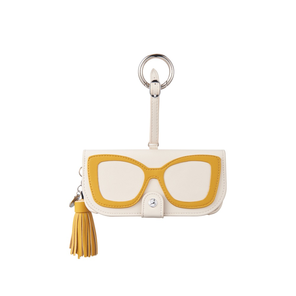 GLASSES CASE - CREAM COLORBLOCK SUNGLASS CASE