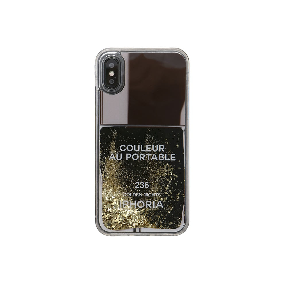 NAILPOLISH BLACK GOLD iPhone XR CASE