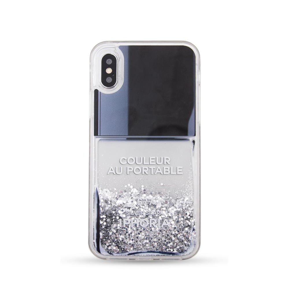 NAILPOLISH GREY iPhone XR CASE