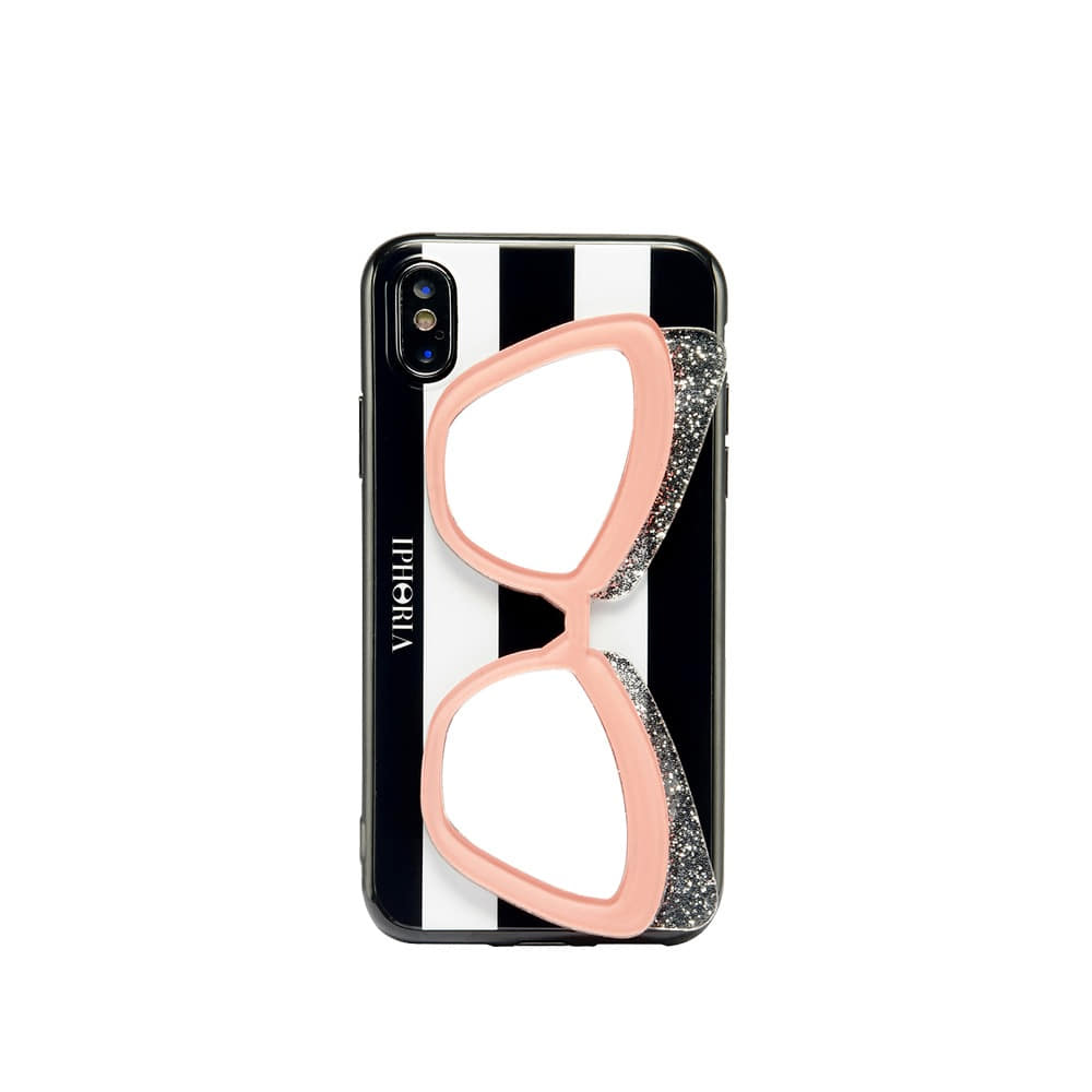 [SAMPLE] SUNGLASSES PINK GLITTER X/XS CASE