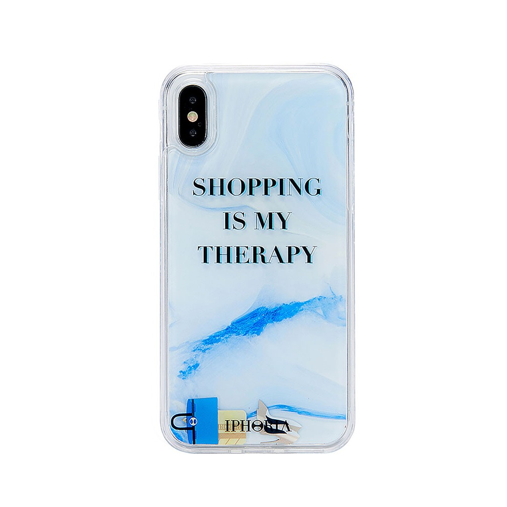 SHOPPING IS MY TRERAPY iPhone X/XS CASE