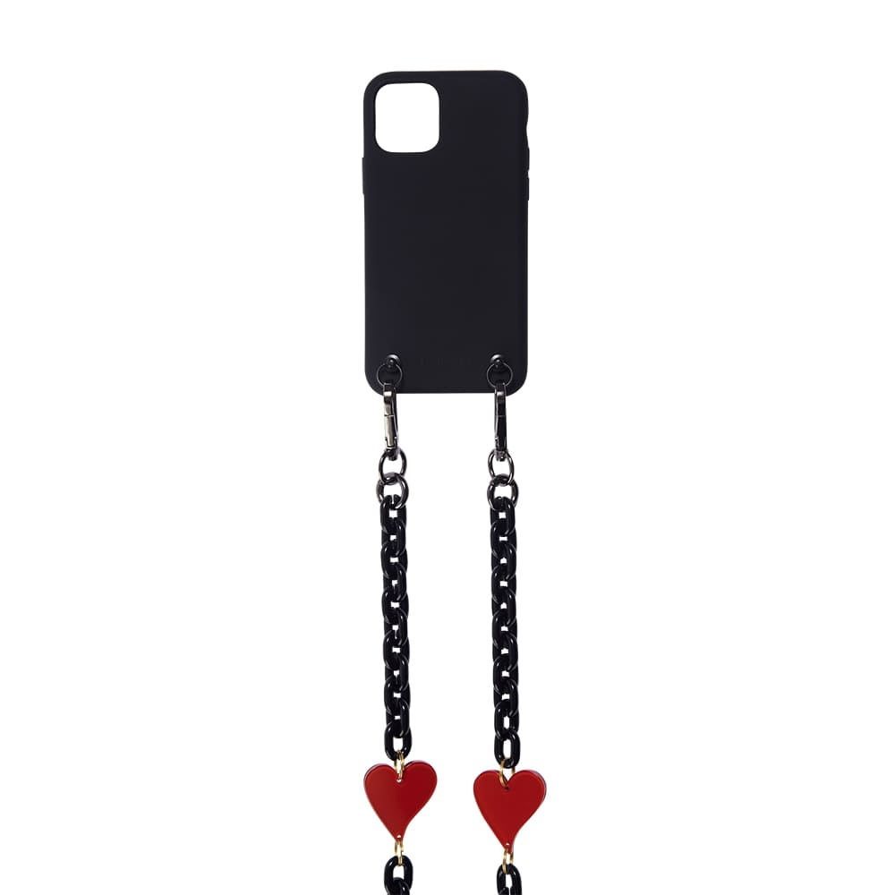 SOFT TOUCH EXTRAORDINARY BLACK  11 PRO NECKLACE CASE