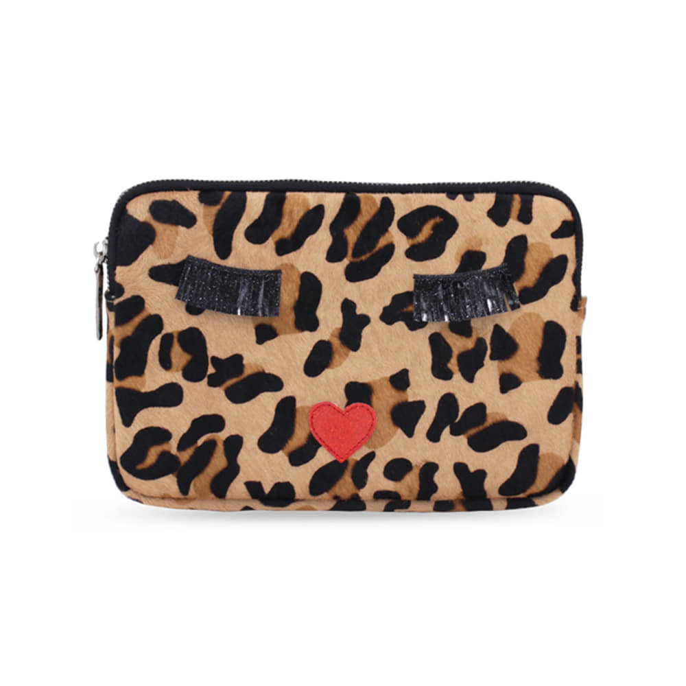 KISS ME LEOPARD CLUTCH