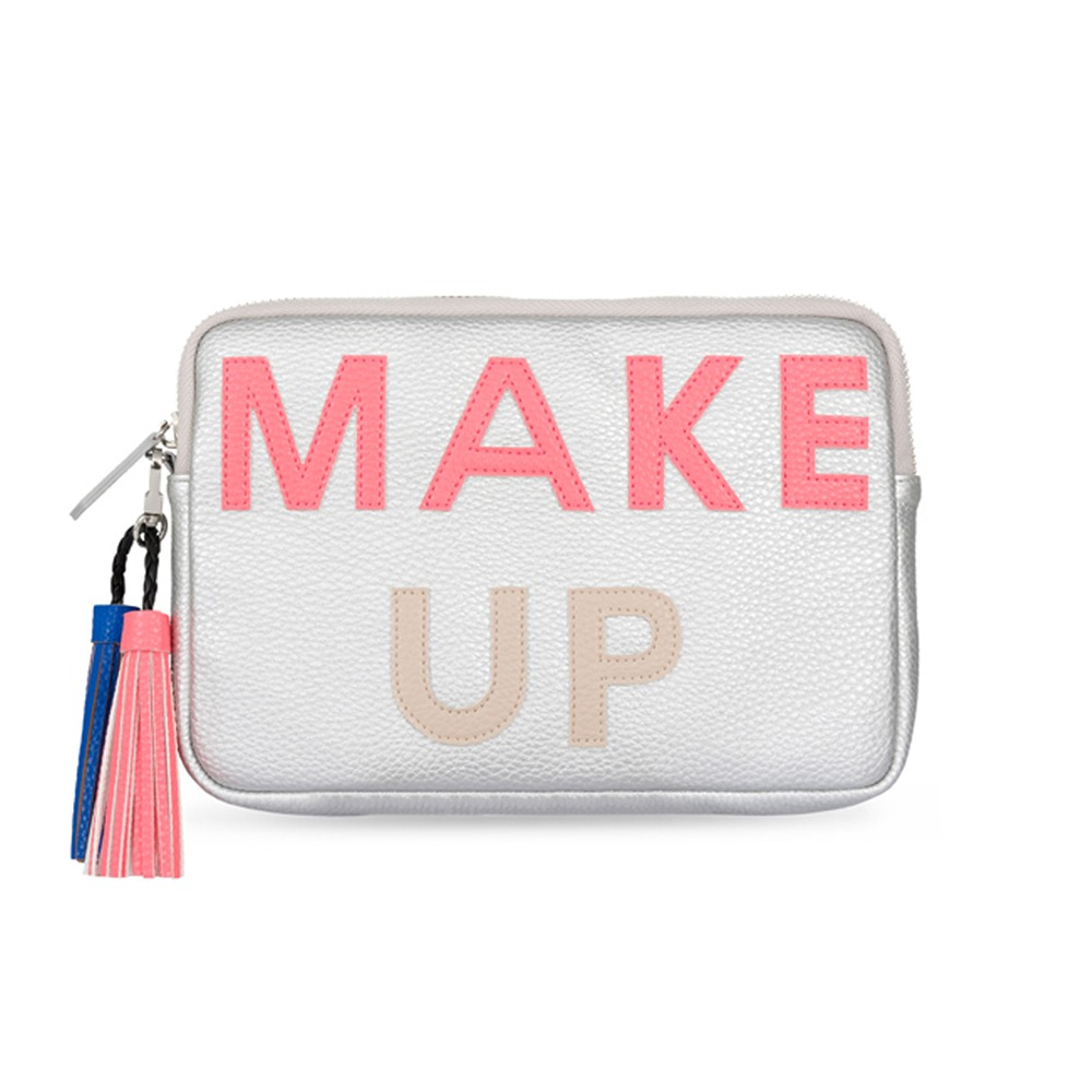 SILVER MAKE UP CLUTCH