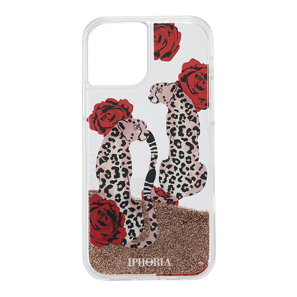LEOPARDS WITH ROSES LIQUID iPhone 12 PRO/12 CASE