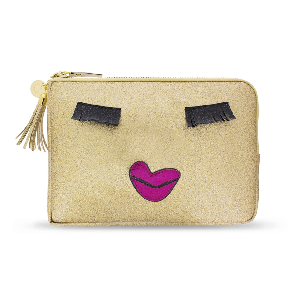 KISS ME GOLD CLUTCH