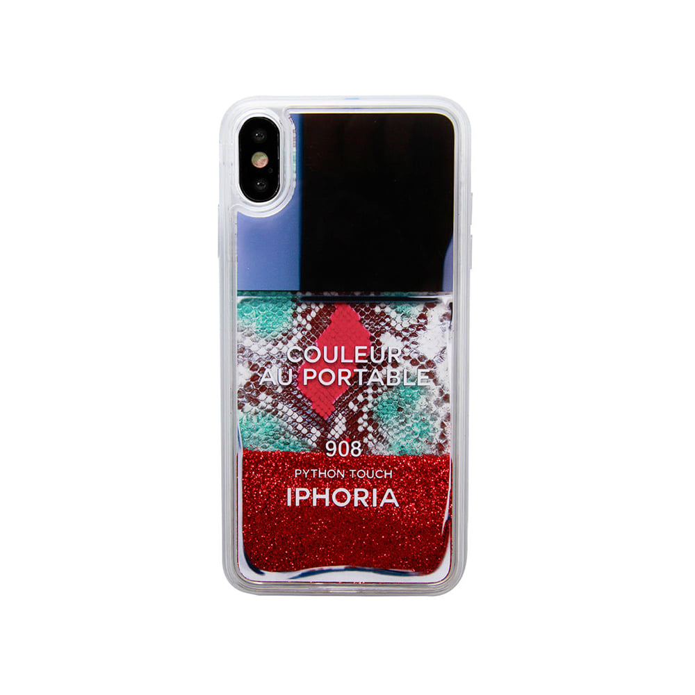 RED SNAKE CLASSIC NAILPOLISH LIQUID iPhone X/XS CASE